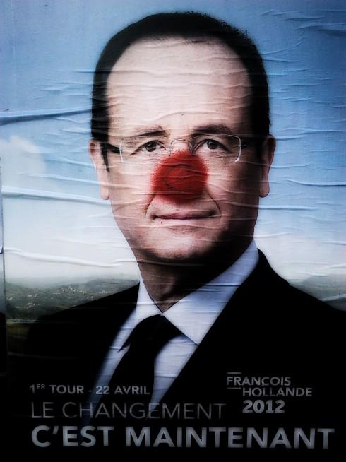 François Hollande 2012 poster