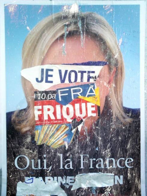 Marine Le Pen 2012 poster