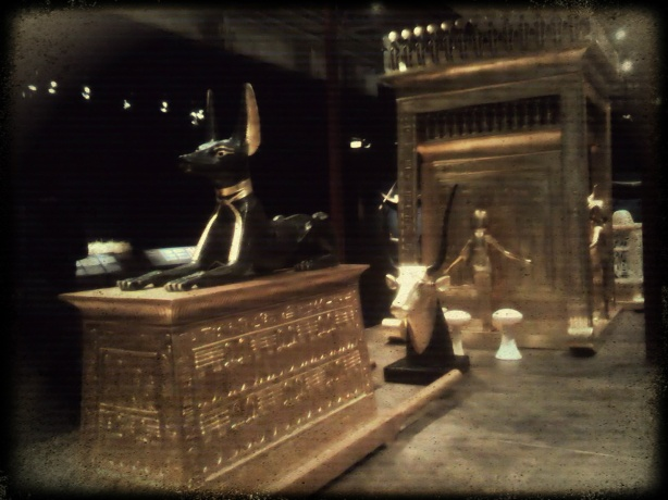 King Tutankhamen's Anubis Statue (Replica - Paris expo photo)