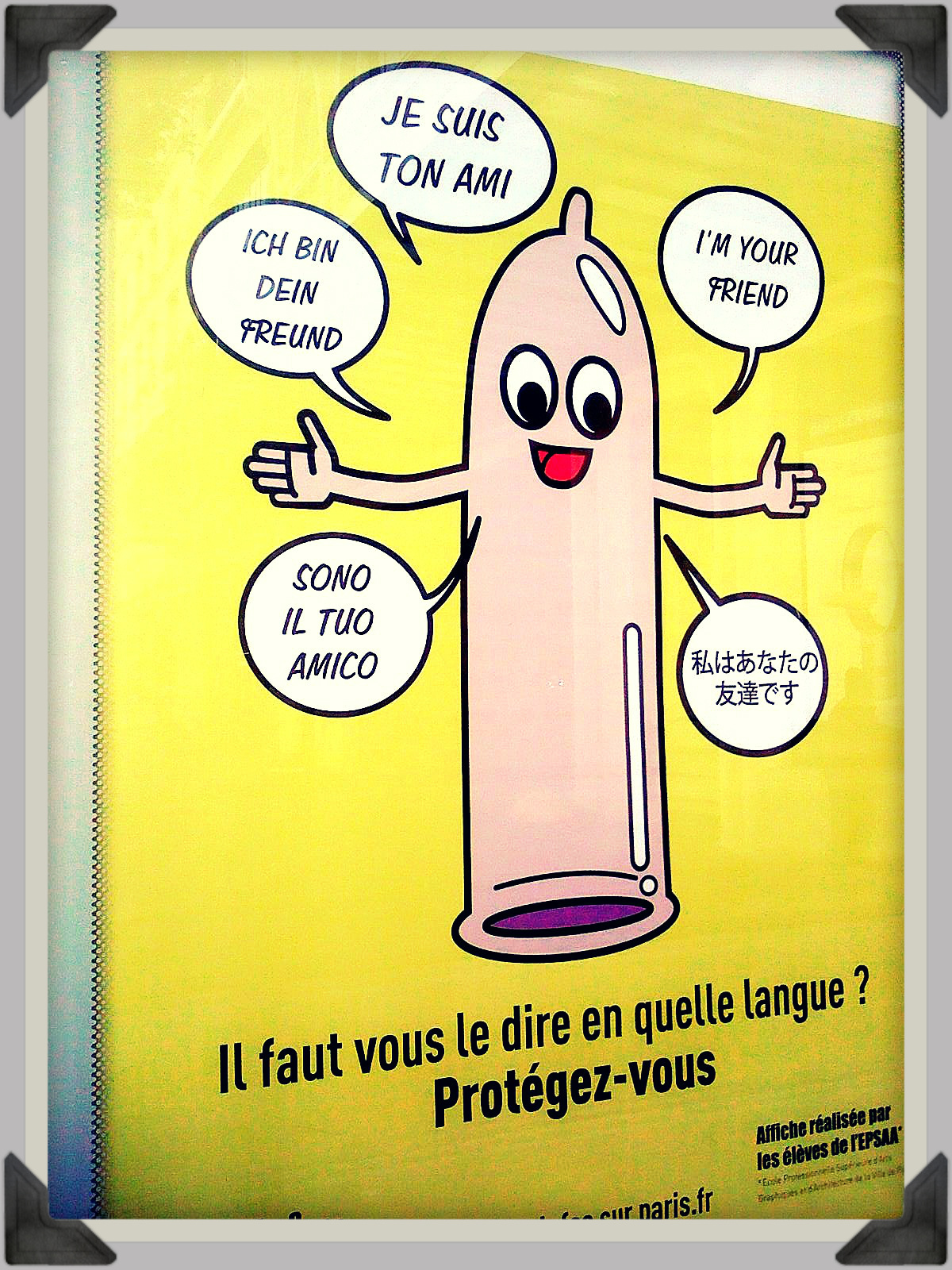 Shake Hands WIth Your Condom (Public Service Announcement, Paris, France)