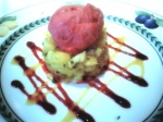 Tartare d'Ananas & Framboise Sorbet / Fresh Pineapple with Raspberry Sorbet (Paris)