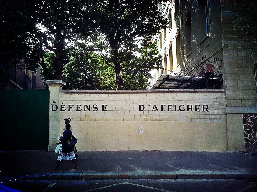 Defense D'Afficher (Paris)