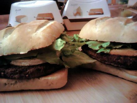 McDonalds Cheese Burgers with Chèvre/Goat cheese & Raclette (Paris)