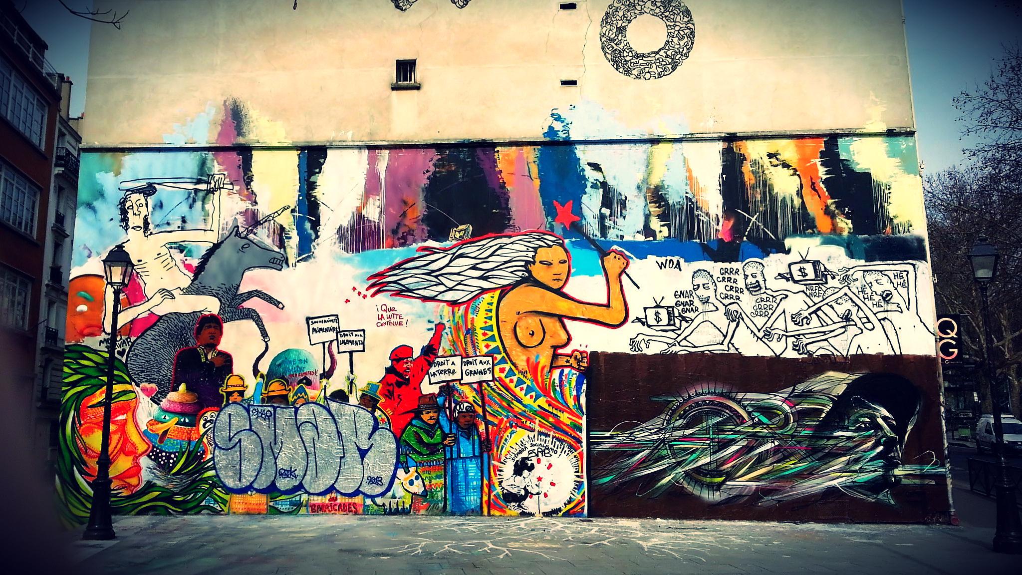 Used 2013-04-19 Graffiti Mural (Paris Paul Prescott) C360_2013-03